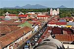 View from Cathedral to Iglesia de la Asuncion, Leon, Nicaragua, Central America