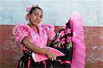 Girl in traditional dress in Catarina, Nicaragua, CentralAmerica