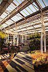 Invernadero de Arganzuela greenhouse in Madrid Rio, Madrid, Spain.