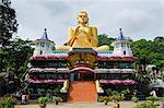 Sri Lanka, North Central Province, Dambulla, Golden Temple and Golden Temple Buddhist Museum, UNESCO World Heritage Site,