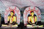 Sri Lanka, North Central Province, Dambulla, Golden Temple, UNESCO World Heritage Site, Royal Rock Temple, Buddha statues in Cave 2