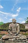 Sri Lanka, North Central Province Polonnaruwa, UNESCO World Heritage Site, Quadrangle, Vatadage. Buddha statue