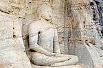 Sri Lanka, North Central Province Polonnaruwa, UNESCO World Heritage Site, Seated Buddha, Gal Vihara