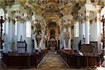 Interior of Pilgrimage Church of Wies (Wieskirche), near Steingaden, Oberbayern, Bavaria, Germany