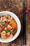 closeup of a vietnam pho soup