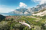 Panoramic view for Lake Garda, Italy