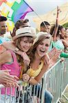 Teenage girls at festival