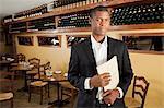 Portrait of male restaurant owner