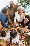 Family having a toast at christmas