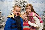 Kids in a winter scene