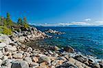 Rocky shore, Lake Tahoe, USA
