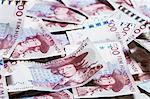Full frame shot of Swedish Kronas banknotes
