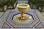Fountain, Palais de la Bahia, Medina, Marrakesh, Morocco, North Africa, Africa