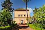 Saadian garden pavilion, La Menara (Menara Gardens), Marrakesh, Morocco, North Africa, Africa