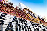 Close up of Chicago Theatre marquee, Chicgo, Illinois, United States of America, North America
