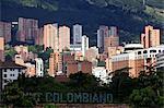 View over the exclusive area of Medellin, El Pobldo, Colombia, South America