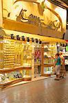 Gold shop in the Gold Souk, Dubai, United Arab Emirates, Middle East