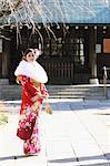 Girl In Kimono Posing