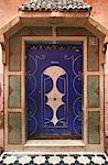 Ornate tiled doorway