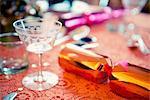 Christmas cracker on table