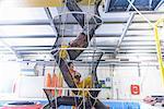 Oil workers training in escape net