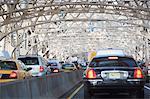 Traffic on urban bridge
