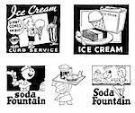 Vector Retro Ice Cream Graphics. Good for any vintage or retro design.