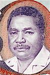 Ali Hassan Mwinyi (born 1925) on 20 Shilingi 1987 Banknote from Tanzania. President of Tanzania during 1985-1995.