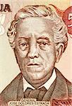 Jose Dolores Estrada Vado (1792-1869) on 50 Cordobas 1985 Banknote from Nicaragua. Nicaraguan national hero.