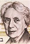 Henrietta Szold (1860-1945) on 5 Lirot 1973 Banknote from Israel. U.S. Jewish Zionist leader and founder of the Hadassah Women's Organization.