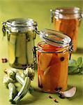 Vegetables preserved in oil