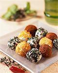 Bocconcini con la robiola (cream cheese balls, Italy)