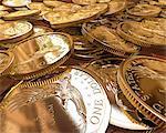 One Dollar coins, computer artwork.
