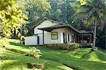Brazil, Rio de Janeiro, Parati, a neo colonial cottage an island in Parati Bay