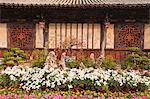 China, Yunnan, Jianshui. A peaceful couryard at the Zhu Family Garden hotel, an old Chinese mansion dating back to the Qing Dynasty, in Jianshui.