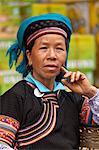 China, Yunnan, Yuanyang. A lady of the Hani ethnic minority group, Yuanyang.