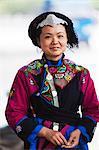 China, Yunnan, Luchun. A girl of the Yi ethnic minority in Luchun.