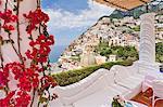 Italy, Campania, Salerno district, Peninsula of Sorrento, Positano. Hotel Le Sirenuse, terrace.