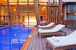 South America, Peru, Urubamba, the swimming pool in the spa at the Tambo del Inka resort and spa