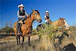 Cowboy and Cowgirl, Apache Spirit Ranch, Tombstone, Arizona, USA