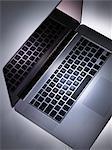 Spotlight on laptop computer