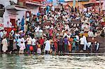 Pilgrims at Har Ki Pauri, River Ganges, Haridwar, Uttarakhand, India