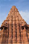 Low angle view of a temple, Lakshmana Temple, Khajuraho, Chhatarpur District, Madhya Pradesh, India