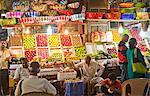 People at a fruit market, Crawford Market, Mumbai, Maharashtra, India