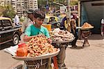 Street vendor selling snacks, Haji Ali Juice Center, Haji Ali, Mumbai, Maharashtra, India