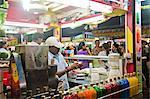 People eating ice cream at a ice cream parlor, Juhu Beach, Mumbai, Maharashtra, India