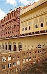 Low angle view of a palace, Hawa Mahal, Jaipur, Rajasthan, India