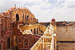 Carving on a palace, Hawa Mahal, Jaipur, Rajasthan, India