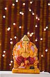 Close-up of an idol of Lord Ganesha