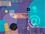 Illustrative representation showing telecommunications